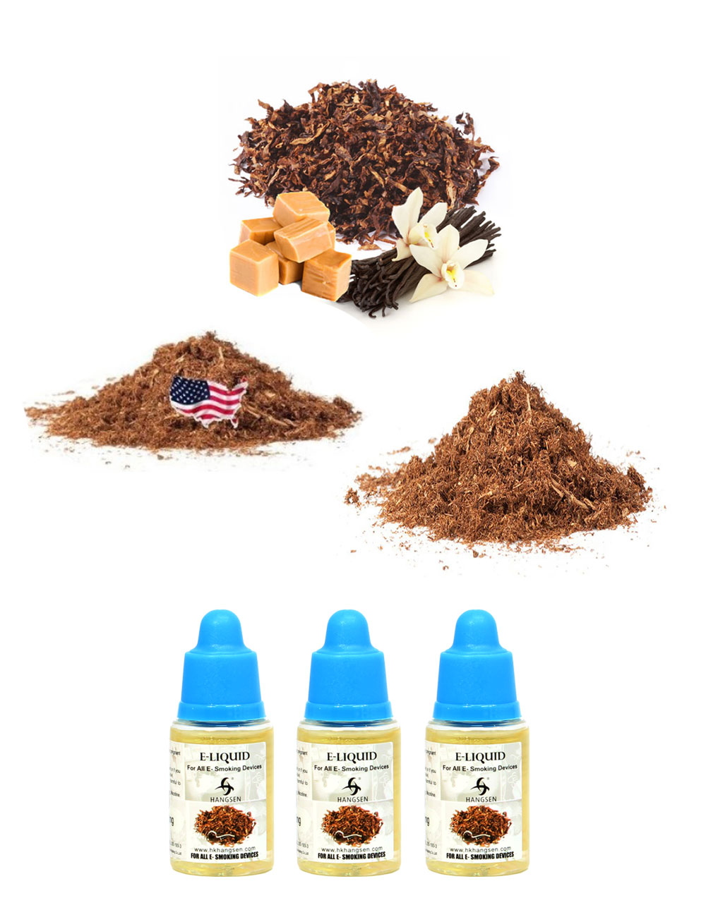 Hangsen 12mg tobacco e liquid bundle