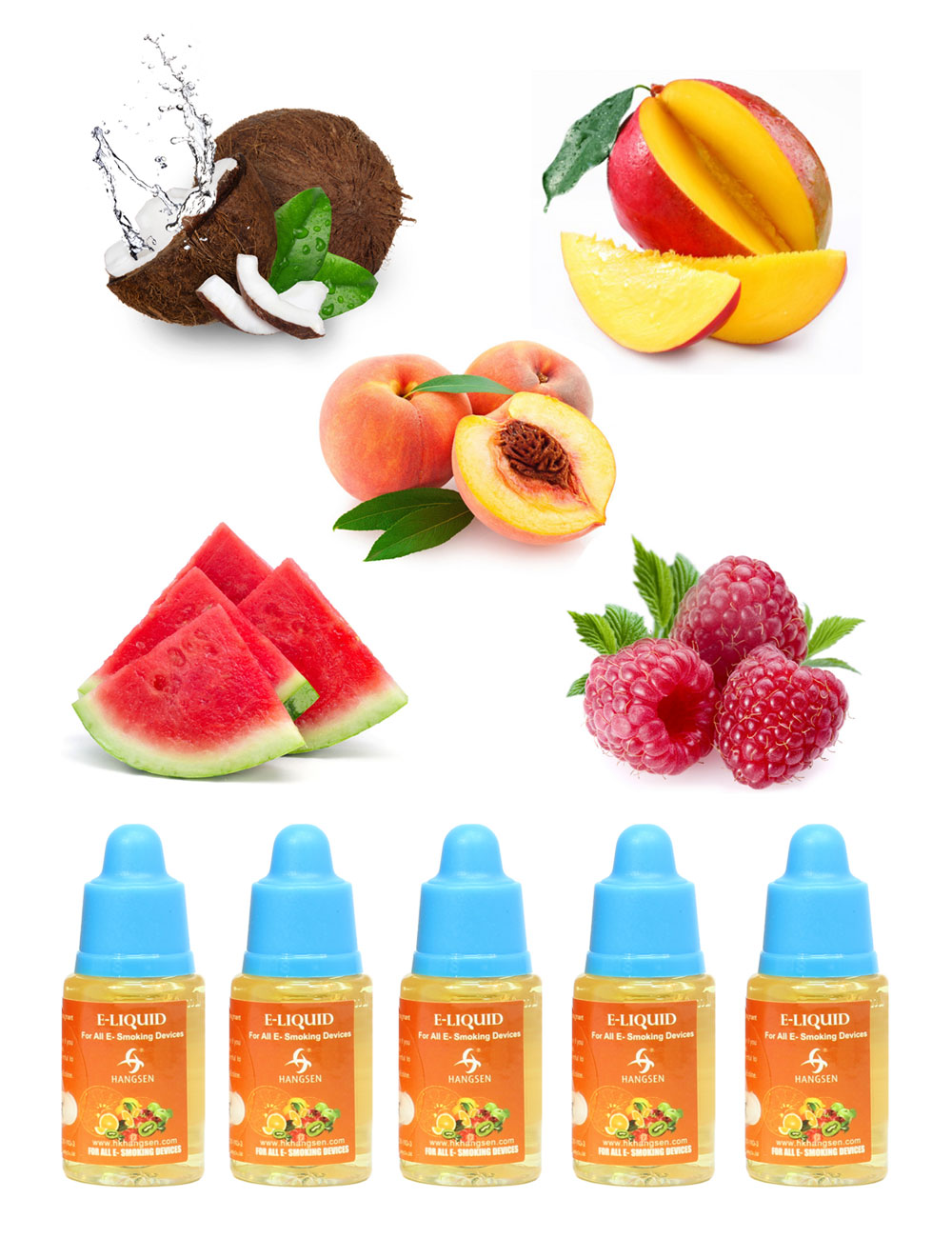 Hangsen 12mg tropical fruit e liquid bundle