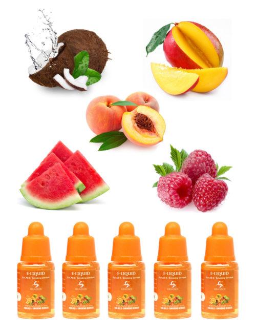 Hangsen 18mg tropical fruit e liquid bundle