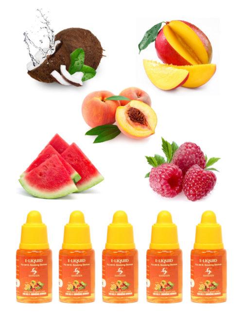 Hangsen 24mg tropical fruit e liquid bundle