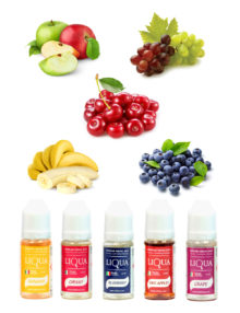 Liqua 12mg summer fruits e liquid bundle